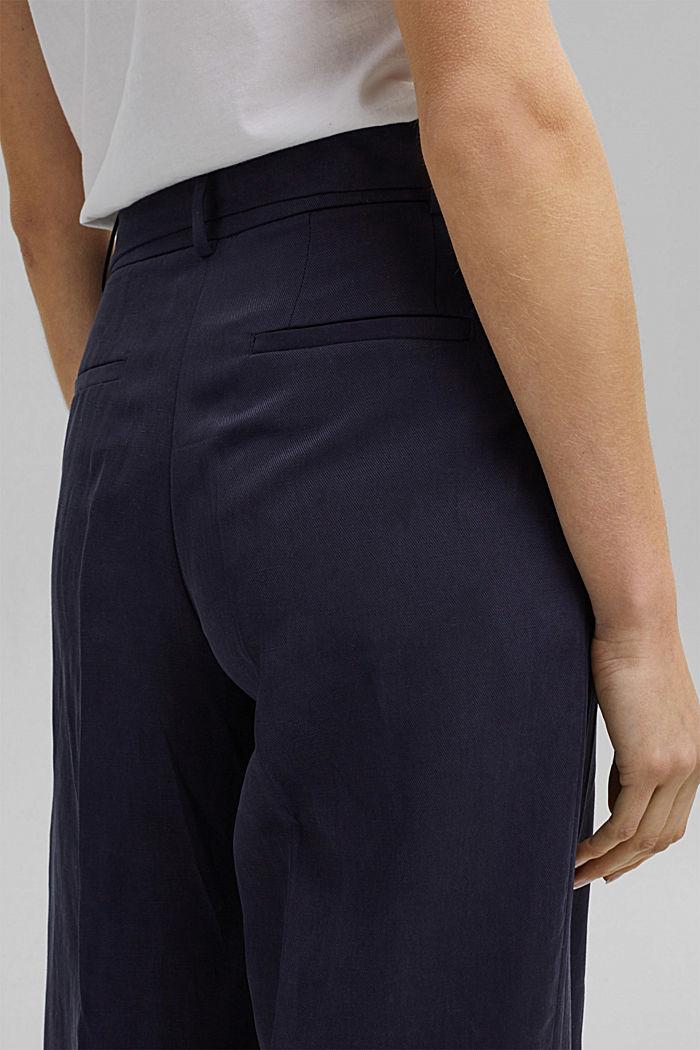 SOFT Mix + Match linen blend trousers, NAVY, detail image number 5