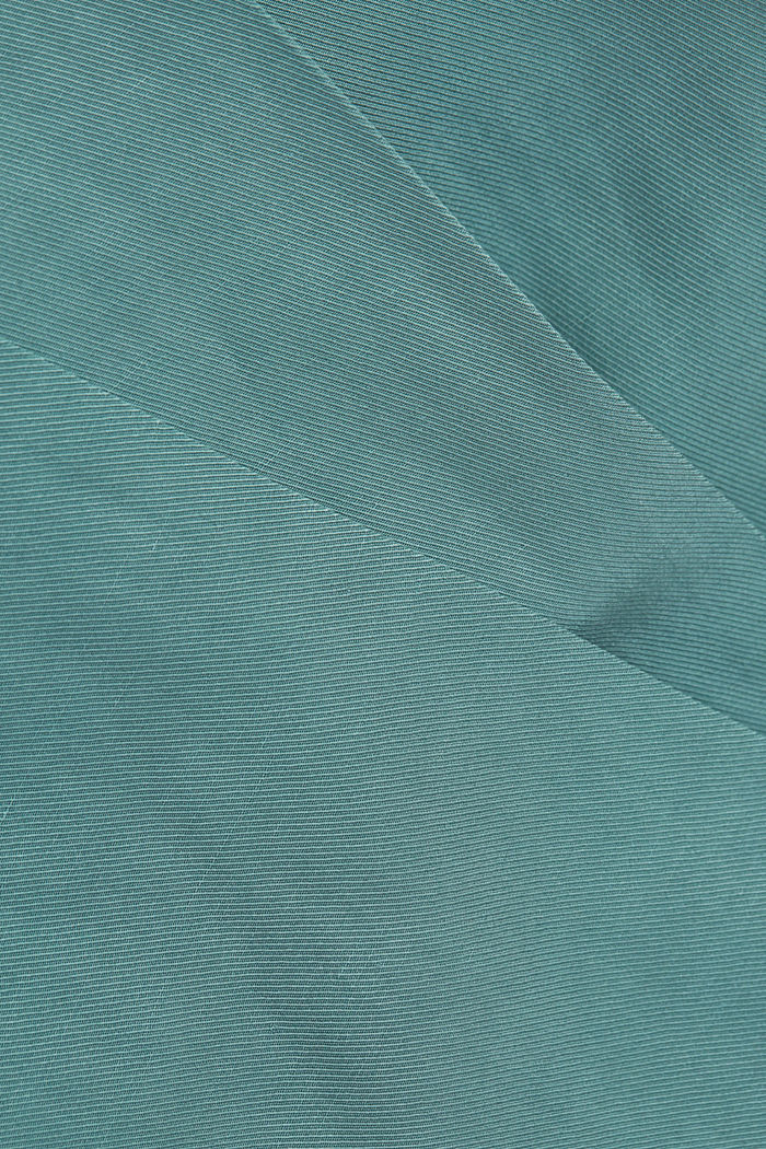 SOFT mix + match broek met linnen, DARK TURQUOISE, detail image number 4