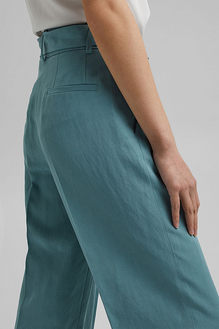 SOFT mix + match broek met linnen, DARK TURQUOISE, detail image number 5