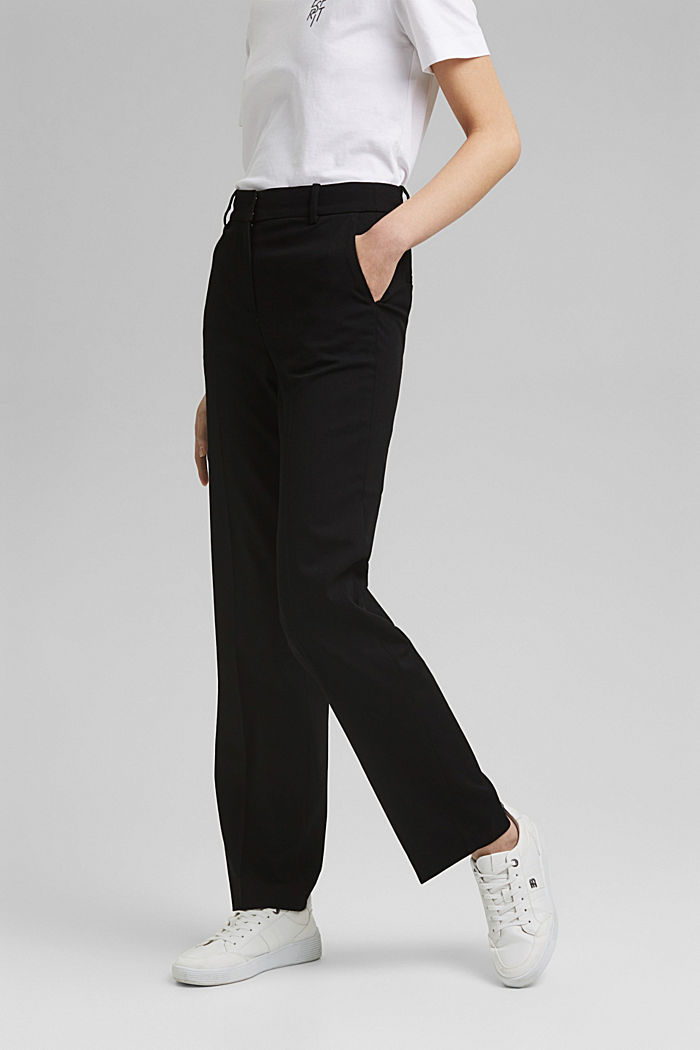 TWILL Mix + Match high-rise trousers, BLACK, detail image number 0