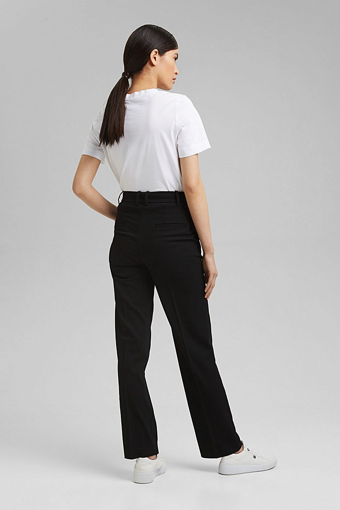 TWILL Mix + Match high-rise trousers, BLACK, detail image number 3