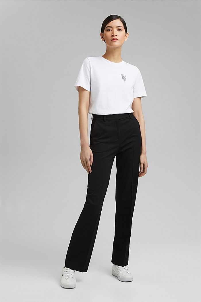 TWILL Mix + Match High-rise-Hose, BLACK, detail image number 6