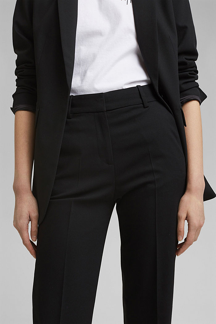 TWILL Mix + Match high-rise trousers, BLACK, detail image number 2