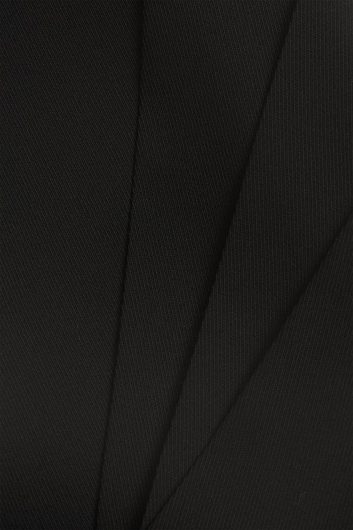 TWILL Mix + Match high rise broek, BLACK, detail image number 4