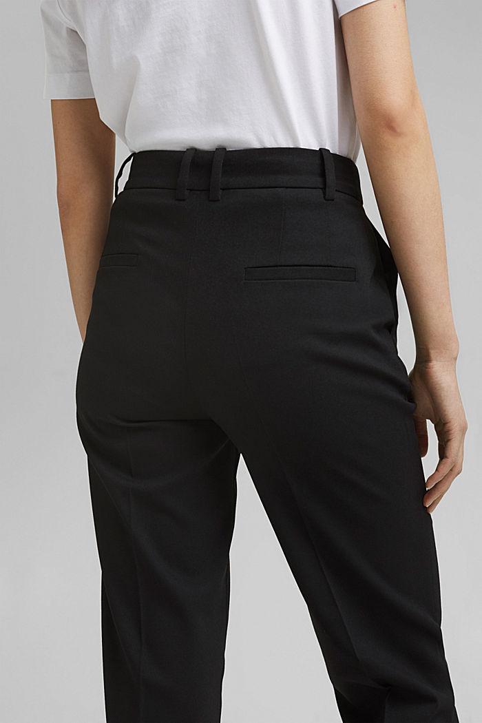 TWILL Mix + Match high rise broek, BLACK, detail image number 5