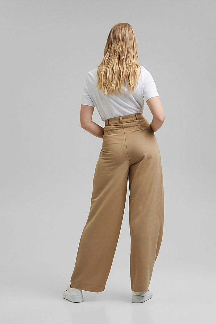 PIQUE mix + match trousers with a wide leg, BEIGE, detail image number 3