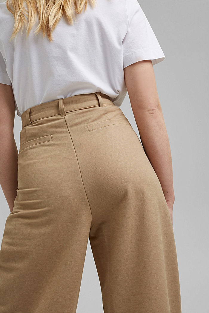 PIQUE mix + match trousers with a wide leg, BEIGE, detail image number 5