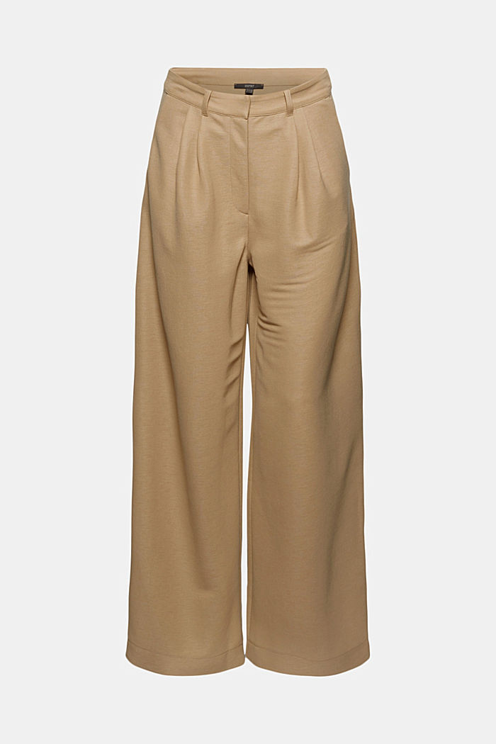 PIQUE mix + match trousers with a wide leg, BEIGE, detail image number 6