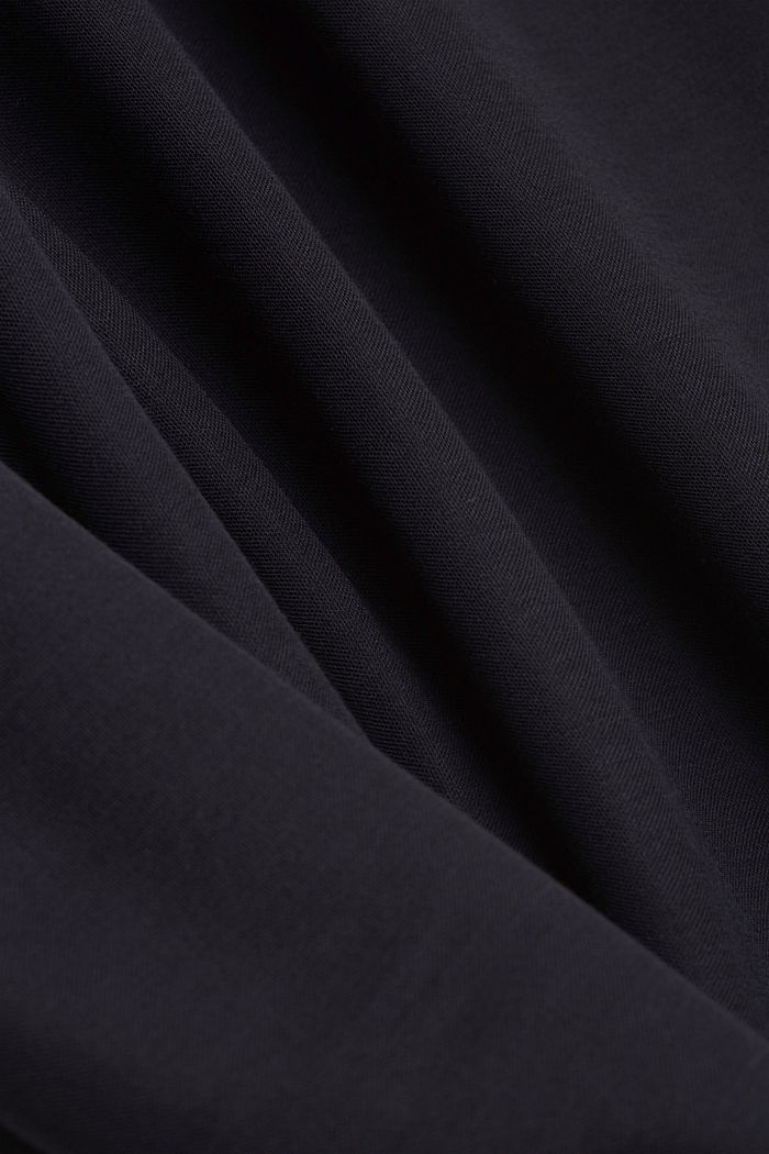 PIQUE mix + match trousers with a wide leg, NAVY, detail image number 4