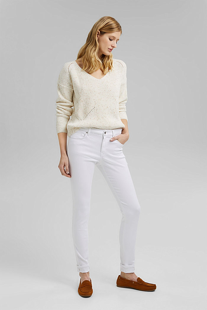 Stretch-Jeans mit Organic Cotton, WHITE, detail image number 1