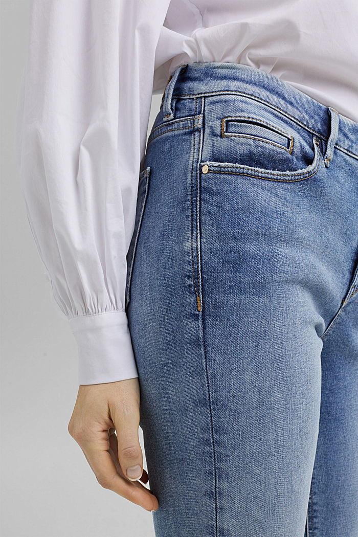 Stretch-Jeans aus Organic Cotton, BLUE LIGHT WASHED, detail image number 2