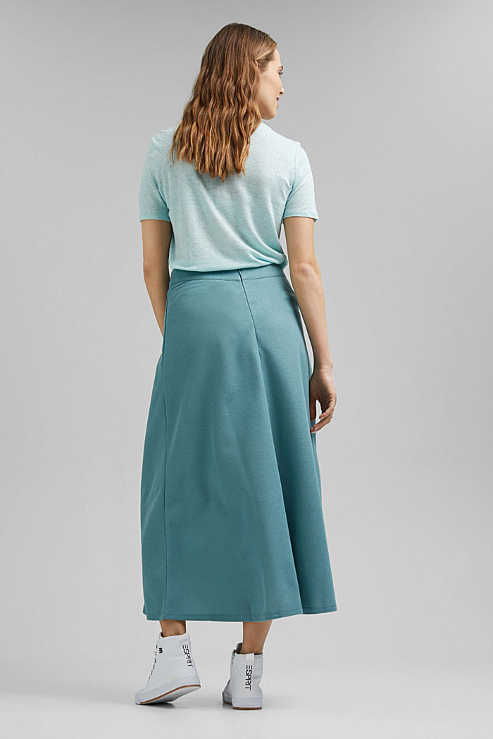 PIQUE Mix + Match midi skirt, DARK TURQUOISE, detail image number 2