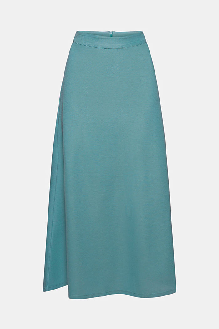 PIQUE Mix + Match midi skirt, DARK TURQUOISE, detail image number 5