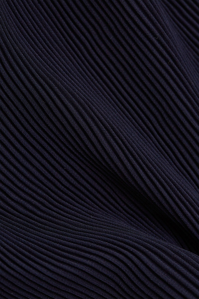 Recycled: Pleated midi skirt, NAVY, detail image number 4