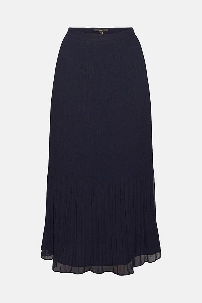 Recycled: Pleated midi skirt, NAVY, detail image number 8