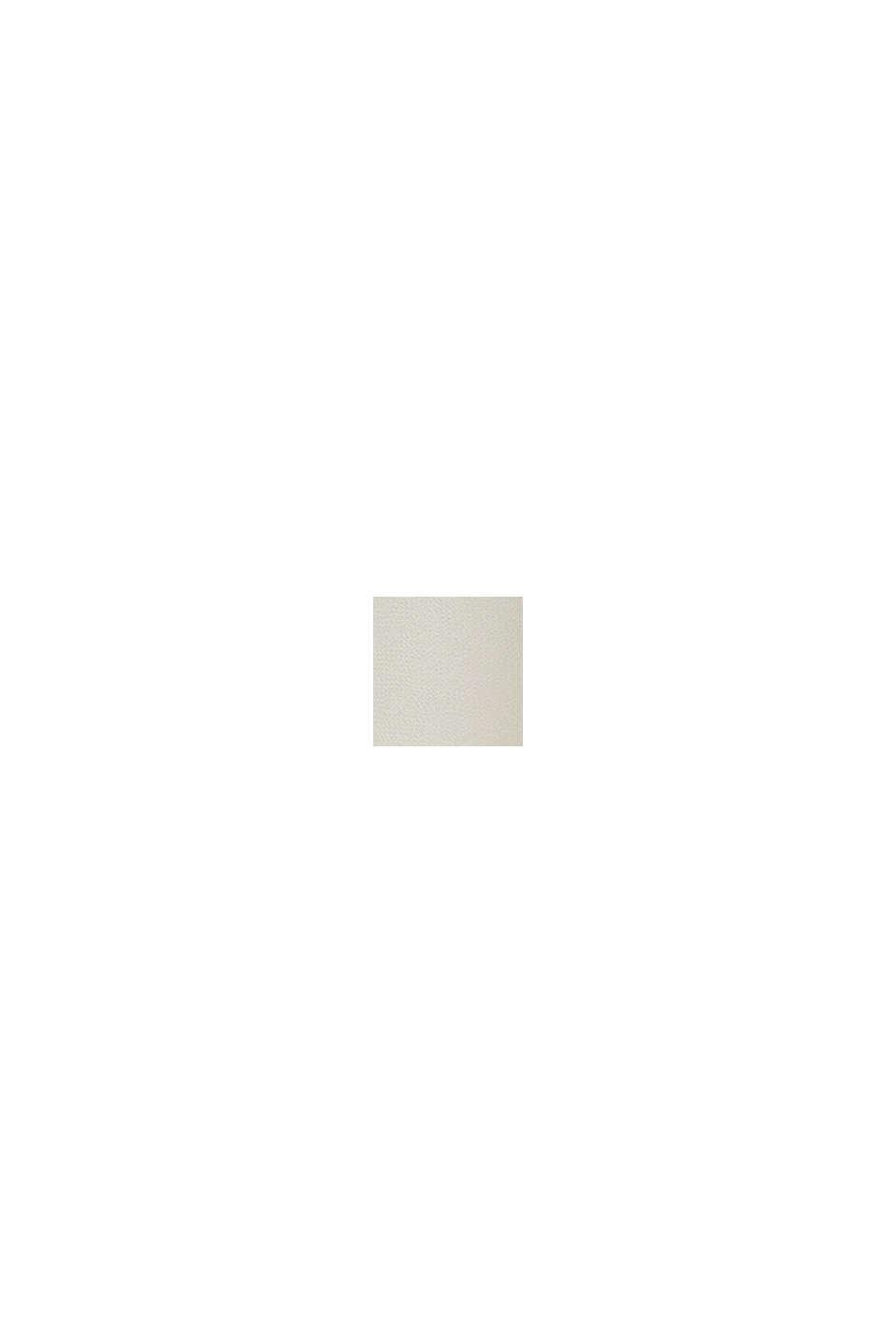 Genanvendte materialer: A-formet chiffonnederdel med print, CREAM BEIGE, swatch