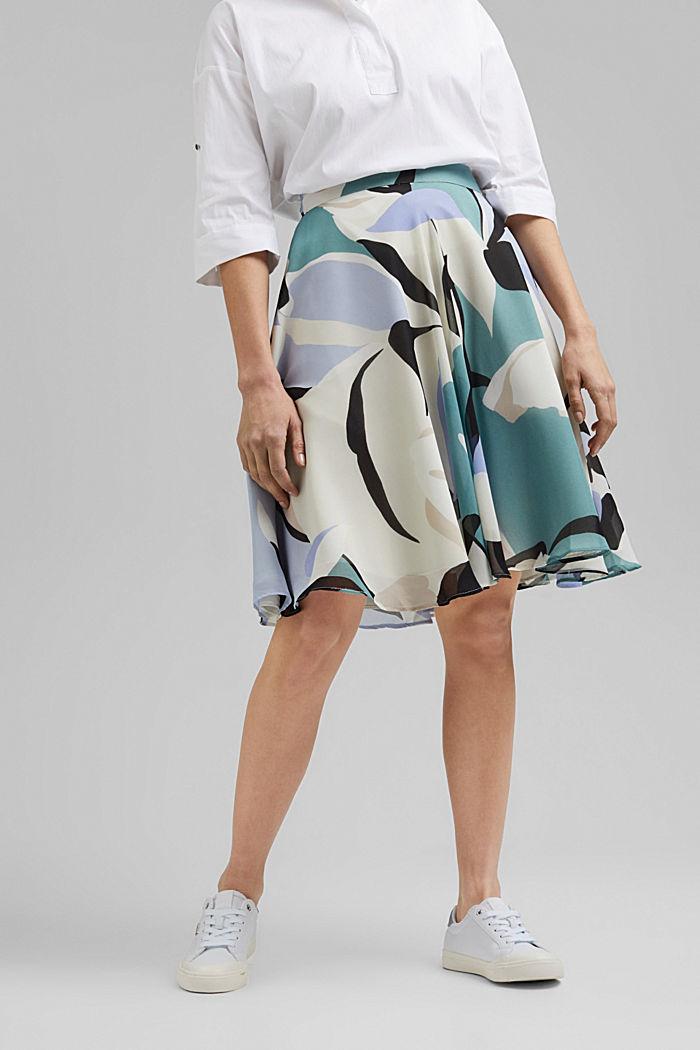 Light woven Skirt, DARK TURQUOISE, detail image number 0