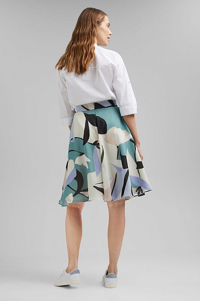 Light woven Skirt, DARK TURQUOISE, detail image number 3