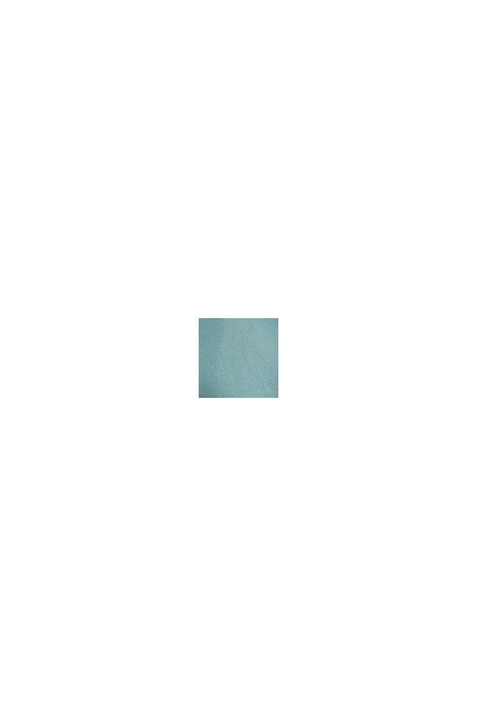Genanvendte materialer: A-formet chiffonnederdel med print, DARK TURQUOISE, swatch