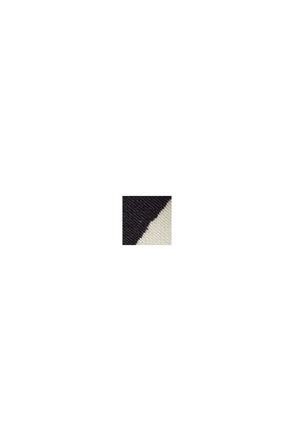 Midinederdel af poplin med botanisk print, BLACK, swatch