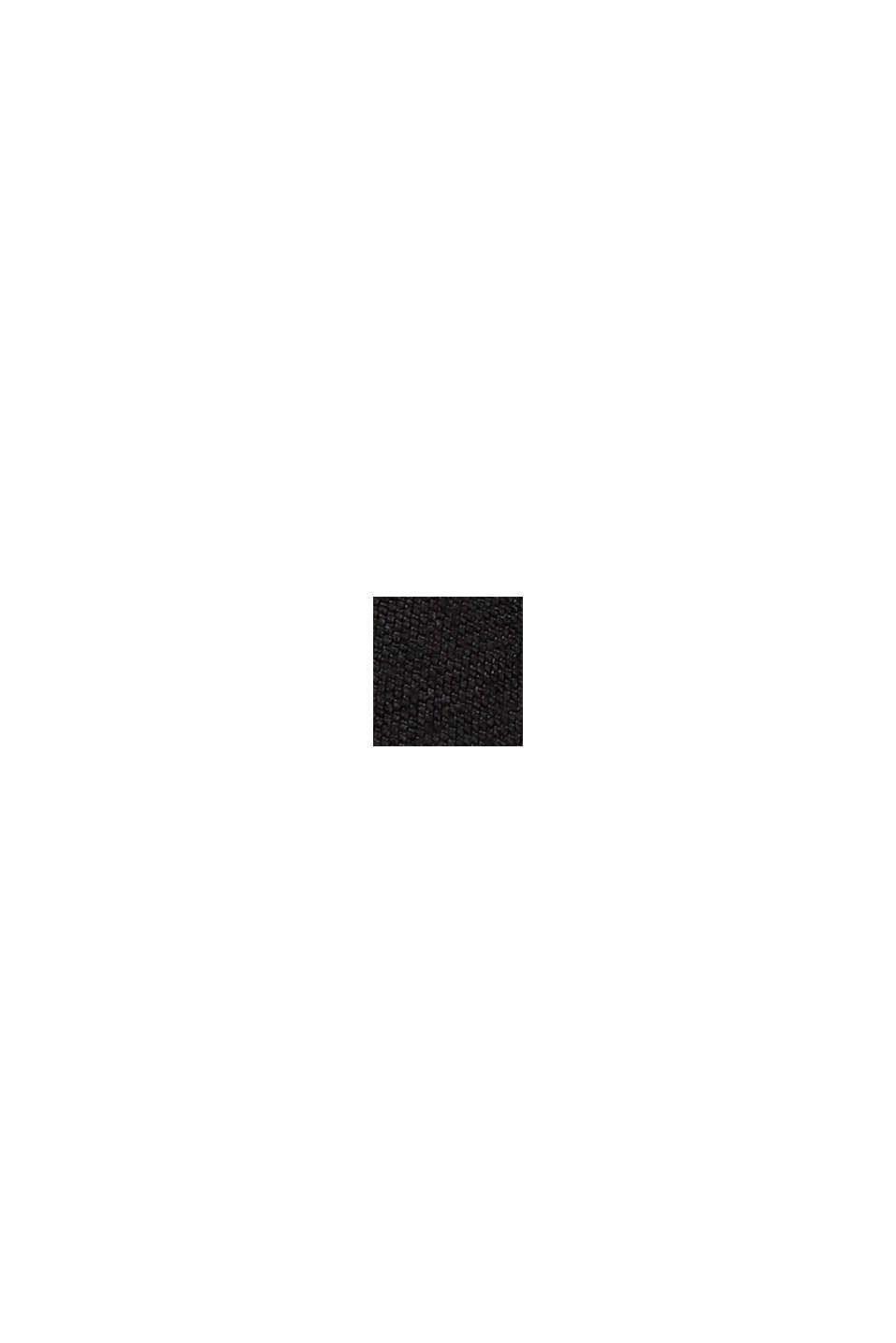 Ausgestelltes Jersey-Midikleid im Wickel-Look, BLACK, swatch