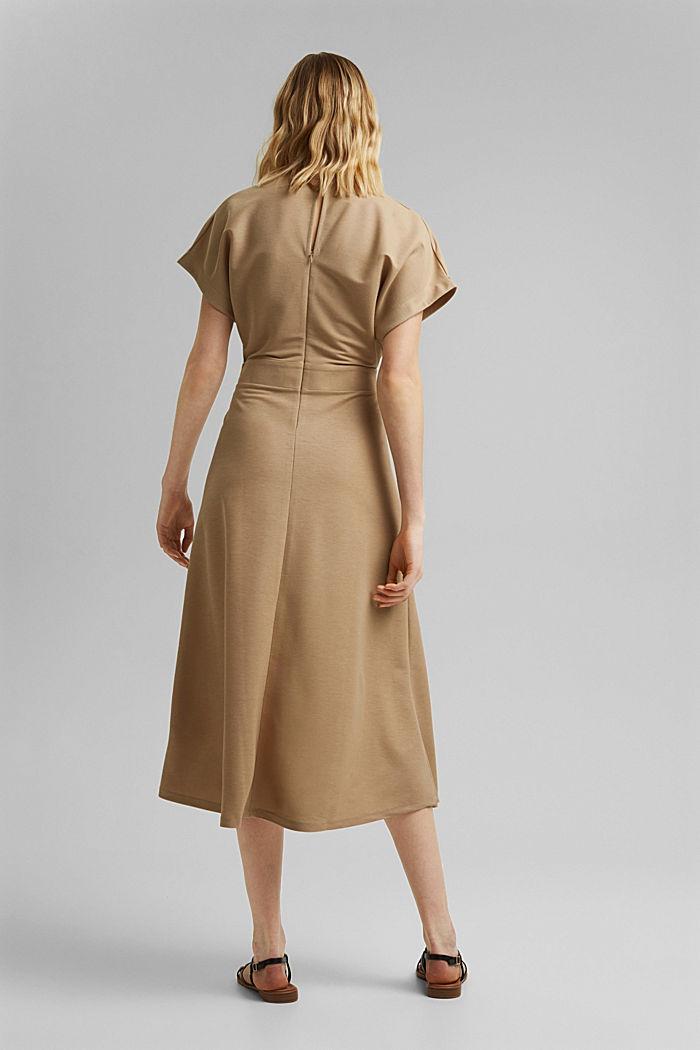 PIQUE Mix + Match Midi-Kleid in Wickeloptik, BEIGE, detail image number 2