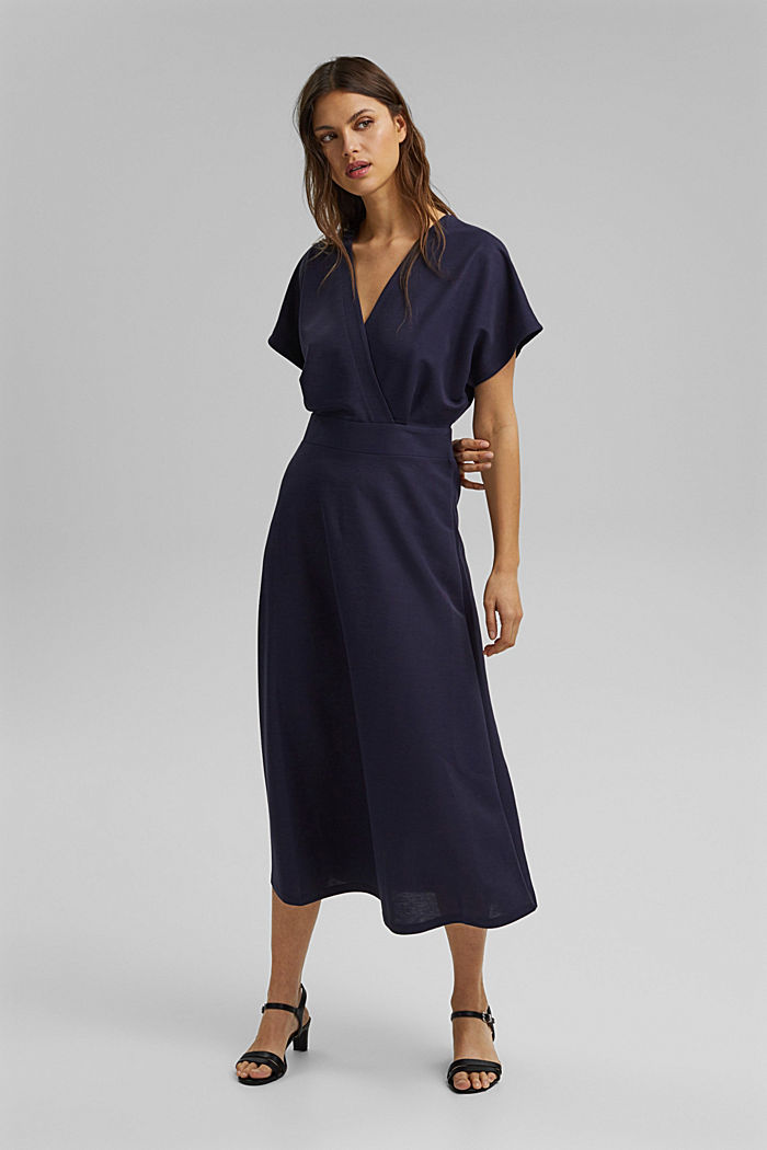 PIQUE Mix + Match wrap-effect midi dress