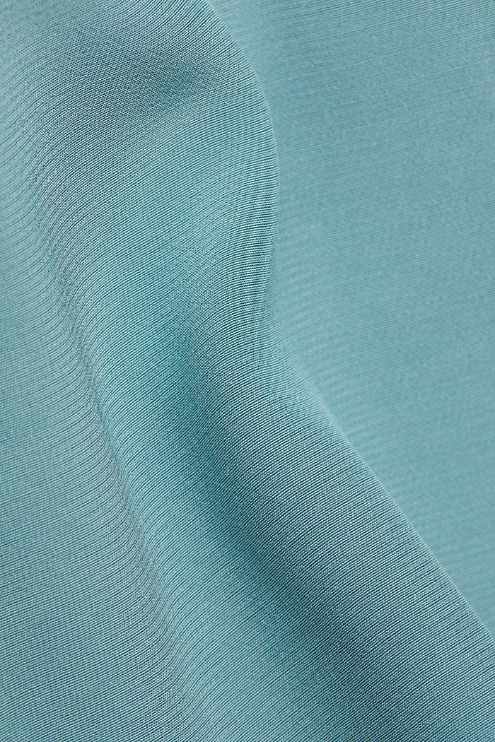 Jurk in kimonostijl met LENZING™ ECOVERO™, DARK TURQUOISE, detail image number 4