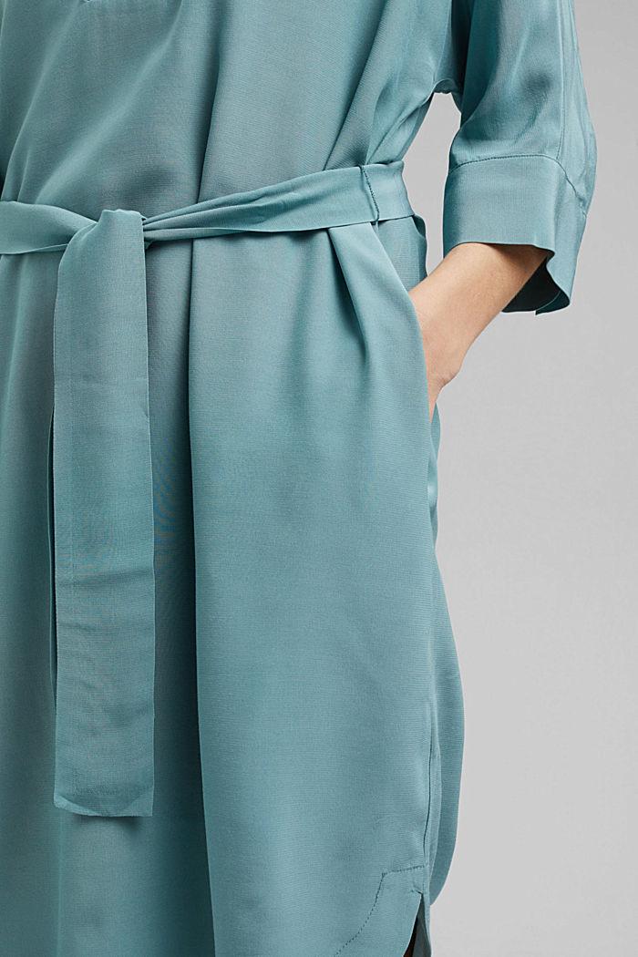 Jurk in kimonostijl met LENZING™ ECOVERO™, DARK TURQUOISE, detail image number 5