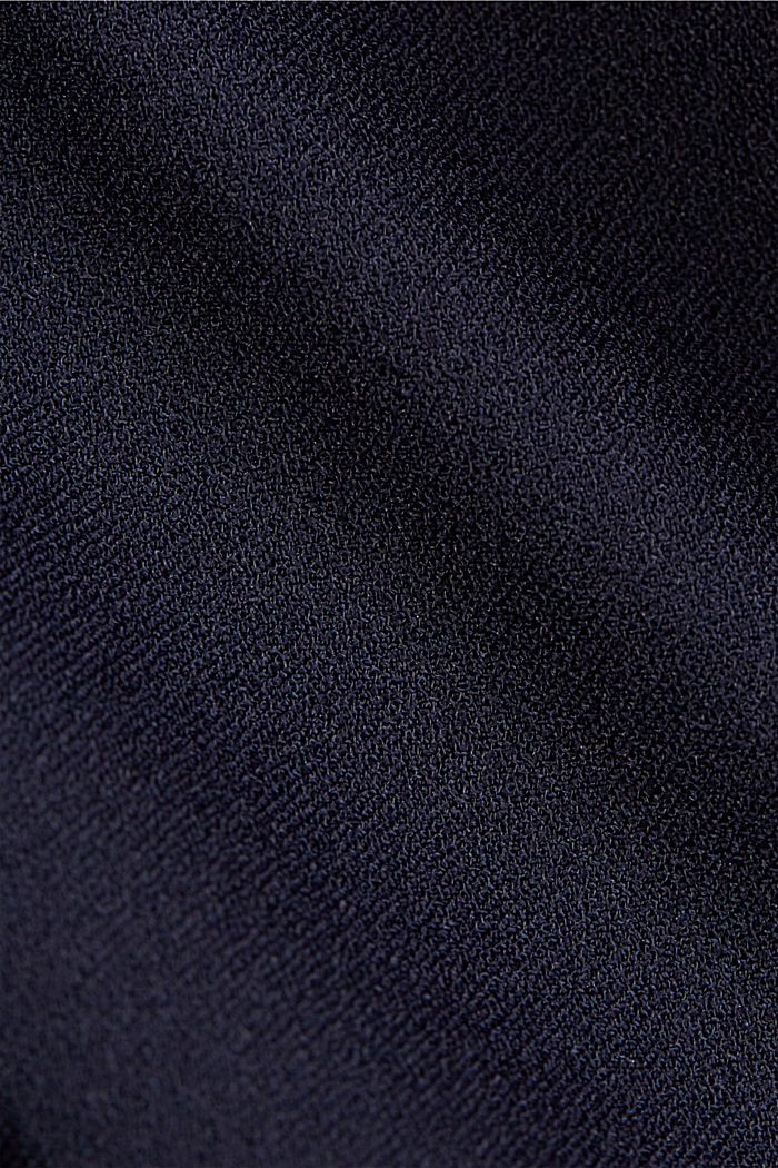Crêpe dress with a waterfall collar, NAVY, detail image number 4