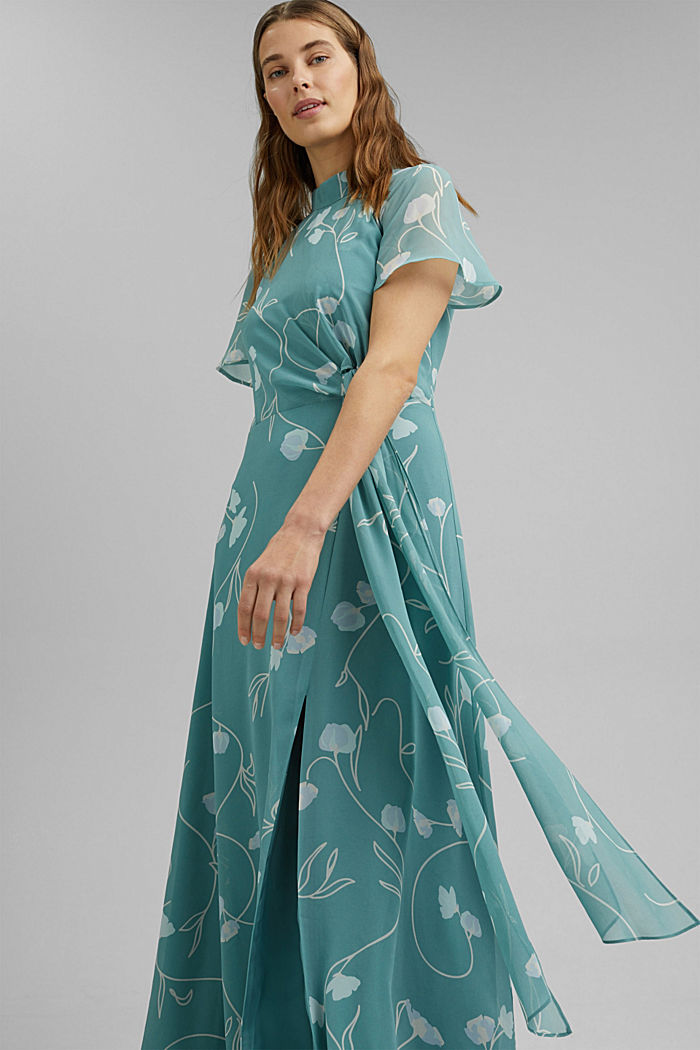 Recycled: Maxi dress with a bow detail