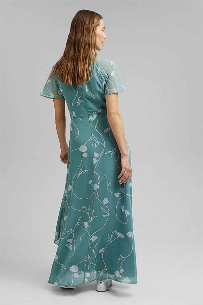 Recycled: Maxi dress with a bow detail, DARK TURQUOISE, detail image number 2