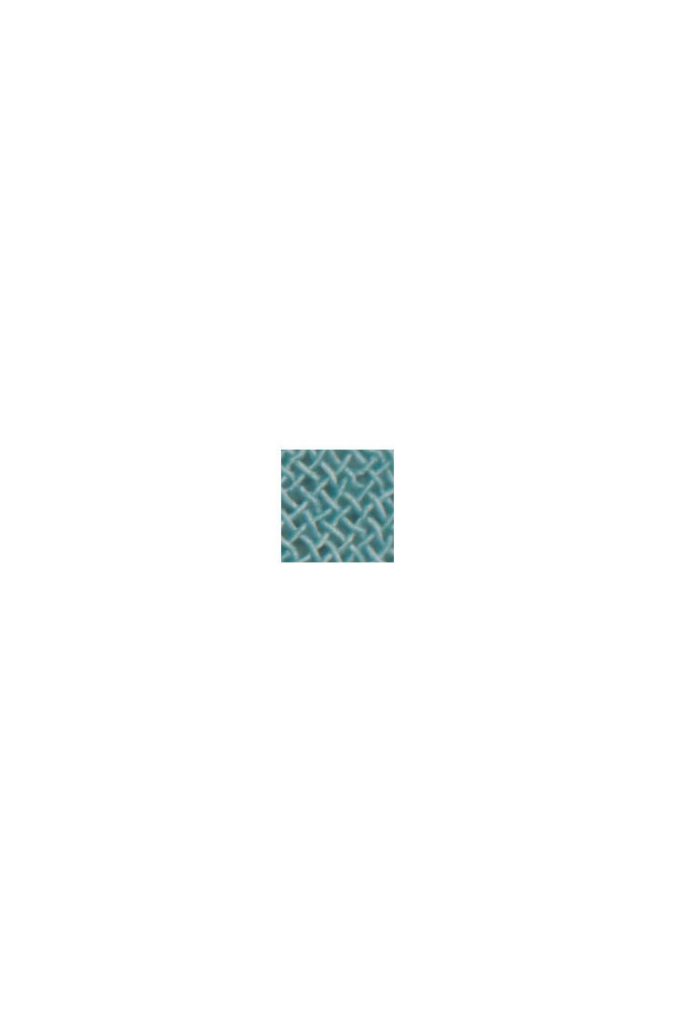 Recycelt: Maxikleid mit Schleifen-Detail, DARK TURQUOISE, swatch