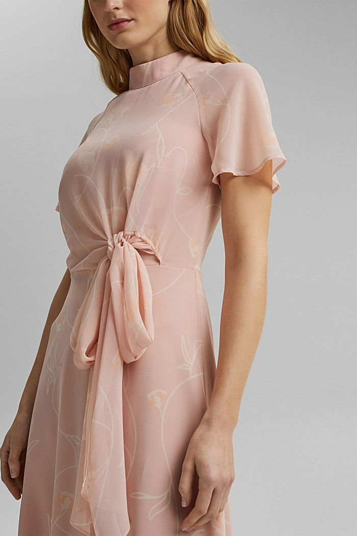 Recycled: Maxi dress with a bow detail, NUDE, detail image number 3