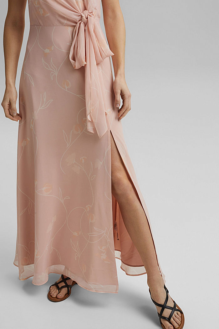 Recycled: Maxi dress with a bow detail, NUDE, detail image number 5
