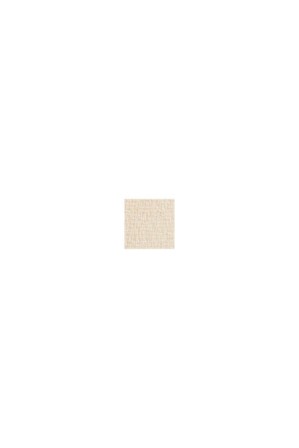 Crêpe-Kleid mit plissiertem Oberteil, CREAM BEIGE, swatch