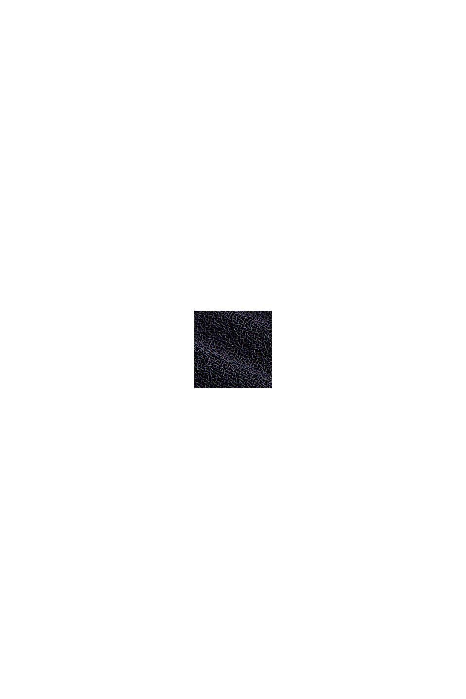 Recycelt: plissiertes Kleid aus Crêpe-Chiffon, NAVY, swatch