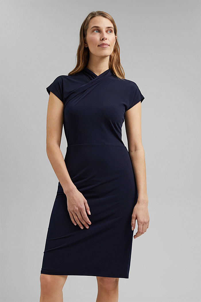 Recycled: Jersey dress with draping