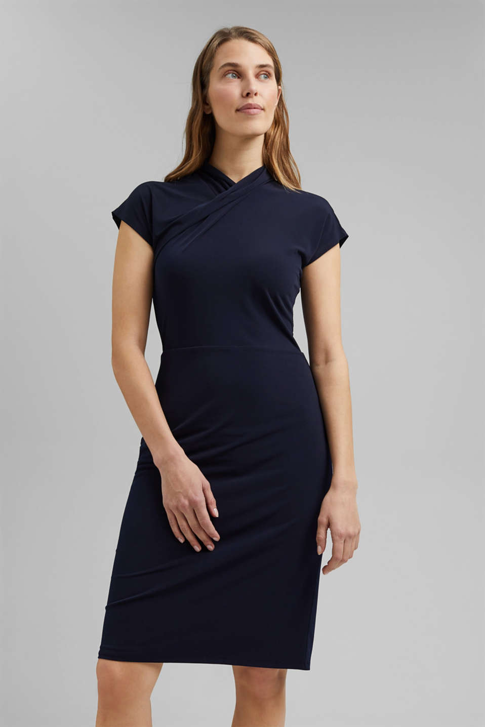 Esprit - Recycled: Jersey dress with draping