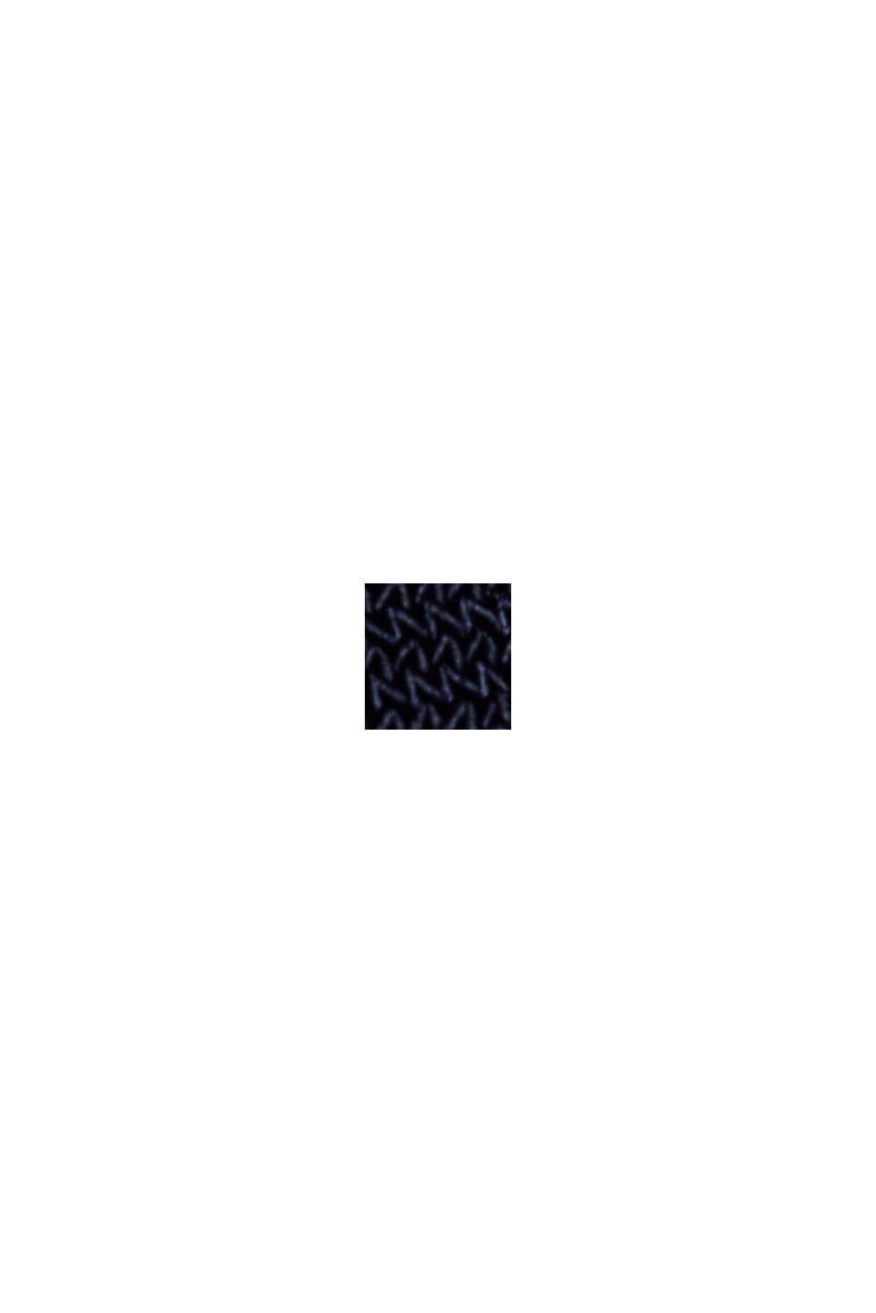 Reciclado: vestido de jersey con drapeado, NAVY, swatch