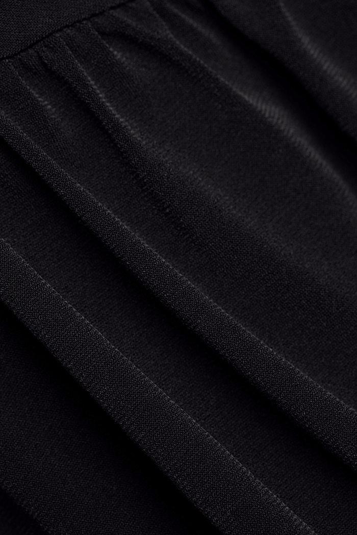 Recycelt: Midi-Jersey-Kleid mit Bindebändern, BLACK, detail image number 4
