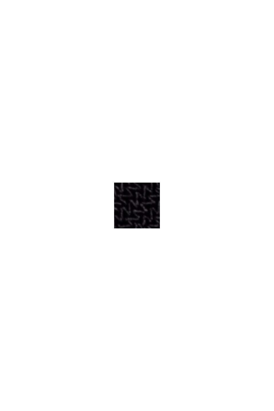 Reciclado: vestido midi de jersey con cintas para anudar, BLACK, swatch