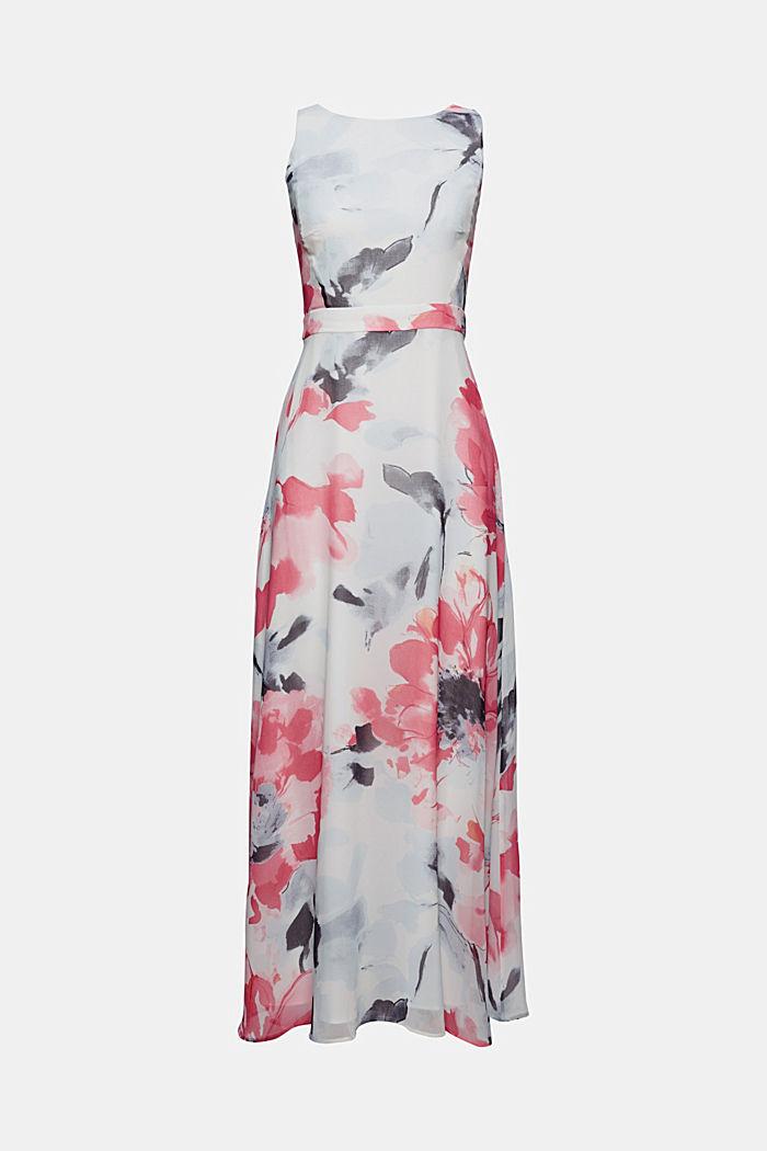 En matière recyclée: la robe maxi longueur en mousseline à imprimé à fleurs