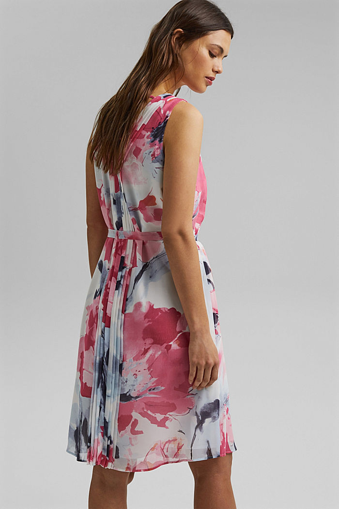Chiffon dress with floral print, ROSE, detail image number 2