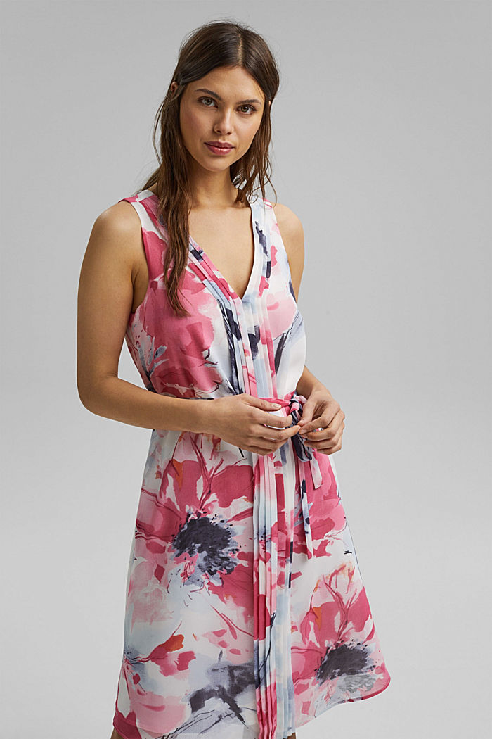 Chiffon dress with floral print, ROSE, detail image number 5