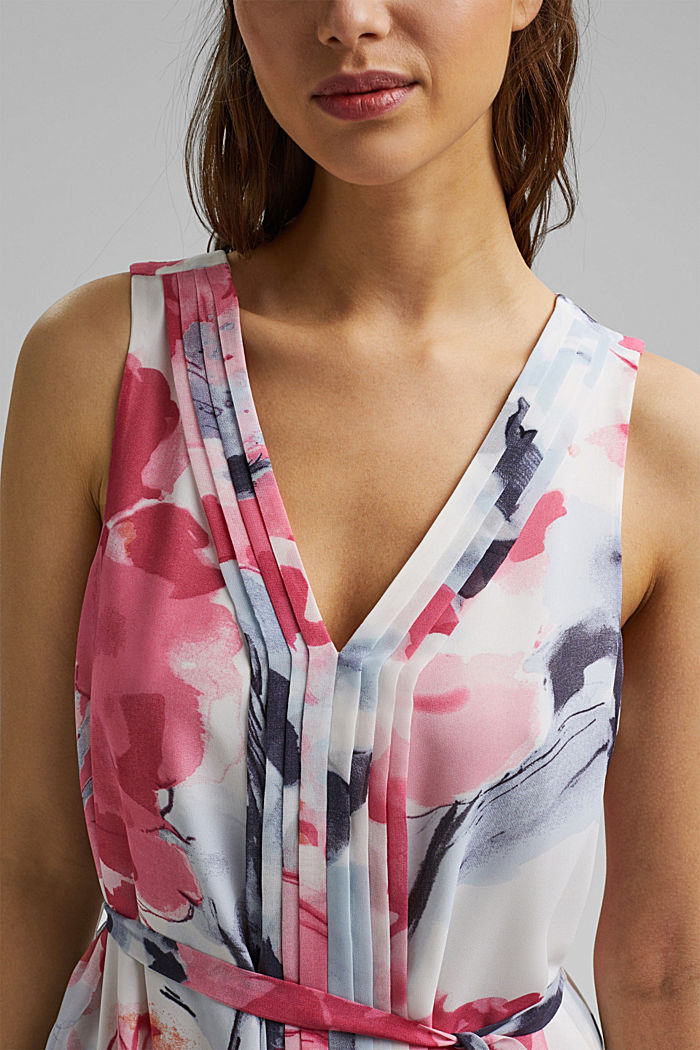 Chiffon dress with floral print, ROSE, detail image number 3