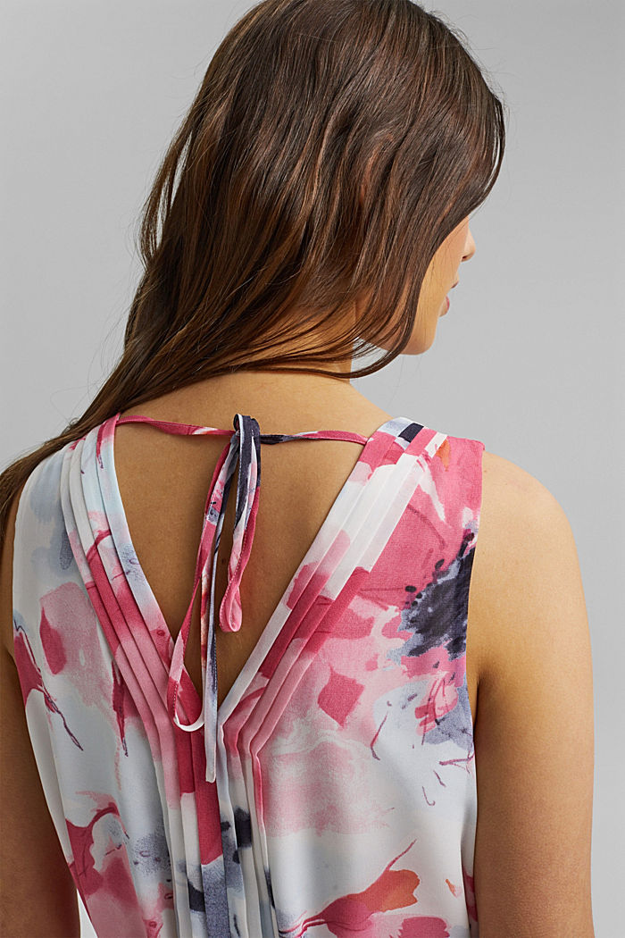 Chiffon dress with floral print, ROSE, detail image number 6