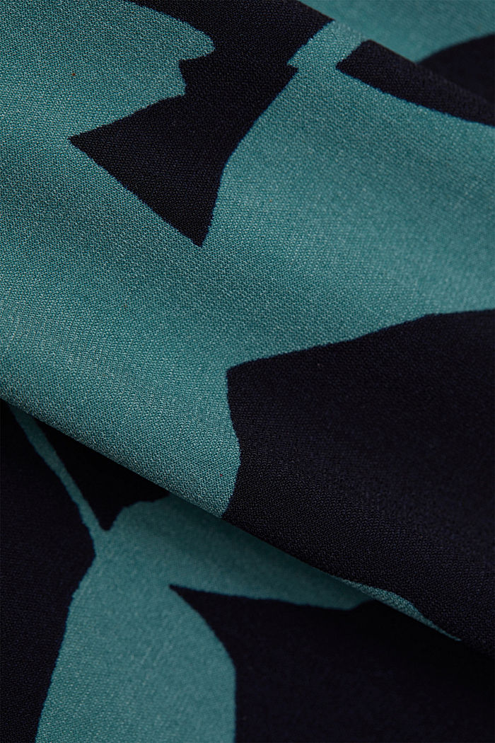 Recycled: jersey dress with botanical print, NAVY, detail image number 4