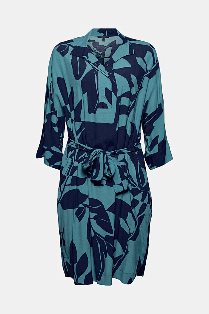 Dress with a botanical print and LENZING™ ECOVERO™