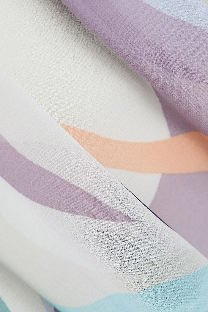 Recycelt: Maxikleid aus Chiffon, PURPLE COLORWAY, detail image number 4